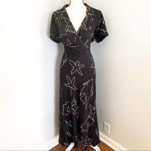 Escada Black White Sea Star Vintage Dress 42